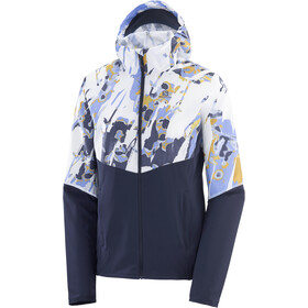 Salomon Agile Full Zip Wind Hoodie Women night sky/white/ao